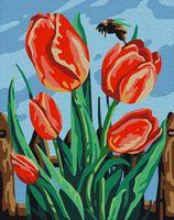 "Картина по номерам ""Майские тюльпаны"" (165х130 мм)"