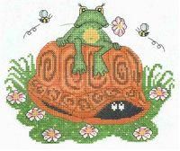 """Вышивка крестом """"Лягушонок и черепаха"""""""