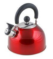 Чайник металлический со свистком (2,15 л; красный металлик)