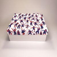 """Подарочная коробка """"Танцевальный отрыв"""" (19х19x7,5 см)"""