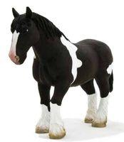 """Фигурка """"Animal Planet: Лошадь мощной породы"""" (черно-белая)"""