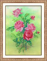 """Вышивка бисером """"Розовые розы"""" (225х310 мм)"""