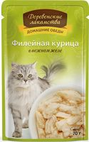 """Пресервы для кошек """"Домашние обеды"""" (70 г; филейная курица)"""