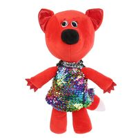 """Мягкая игрушка """"Ми-ми-мишки. Лисичка в платье из пайеток"""" (20 см)"""