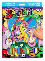 "Картина из песка ""Sand art. Пони и радуга"""