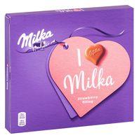 """Конфеты """"Milka. С клубничной начинкой"""" (110 г)"""