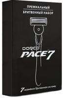 """Подарочный набор """"Pace 7 Серебро"""" (станок для бритья, 5 сменных кассет)"""