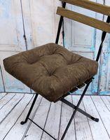 """Подушка на стул """"Velours"""" (40х40 см; коричневая)"""