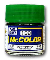 Краска Mr. Color (clear green, C138)