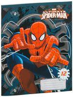 """Тетрадь в крупную клетку """"Spiderman"""" (12 листов; в ассортименте)"""
