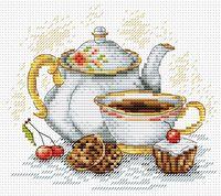 """Вышивка крестом """"Утренний чай"""" (150х180 мм)"""