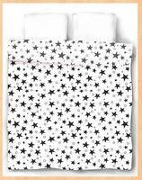 """Пододеяльник хлопковый """"Stars White"""" (215х153 см)"""
