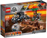 """LEGO Jurassic World """"Побег в гиросфере от карнотавра"""""""