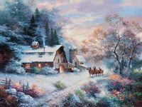 "Картина по номерам ""Снежный вечер"" (410х510 мм; арт. PLD-21783)"