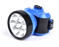 Фонарь аккумуляторный налобный 7 LED (синий)