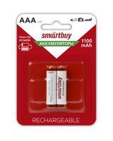 Аккумулятор NiMh Smartbuy AAA/2BL 1100 mAh (24/240) (2 шт.; SBBR-3A02BL1100)