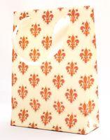 "Пакет бумажный подарочный ""Lilies"" (23,5х17х7 см; розовые элементы)"