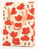 """Пакет бумажный подарочный """"Poppies"""" (23,5х17х7 см)"""