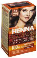 """Крем-краска для волос """"Henna Color"""" (тон: 3.0, темный каштан)"""