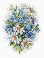 """Вышивка крестом """"Луговые цветы"""" (180х150 мм)"""