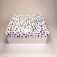 "Подарочная коробка ""Цветнушки"" (19x19x7,5 см)"