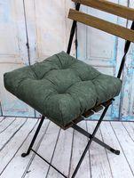 """Подушка на стул """"Velours"""" (40х40 см; зелёная)"""