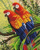 "Алмазная вышивка-мозаика ""Попугаи"" (200х250 мм)"
