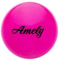 Мяч для художественной гимнастики AGB-102 (15 см; розовый с блёстками)