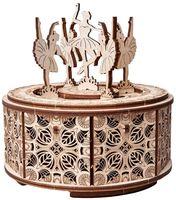 """Сборная деревянная модель """"Музыкальная шкатулка. Танцующие балерины"""""""