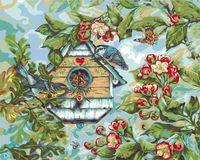 "Картина по номерам ""Певчие птицы весной"" (410х510 мм; арт. PLD-21782)"