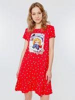 """Сорочка ночная женская """"572327"""" (красный)"""