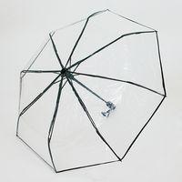 """Зонт """"Прозрачный"""" (чёрный)"""