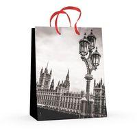 """Пакет бумажный подарочный """"Города"""" (17,8x22,5x10,2 см)"""