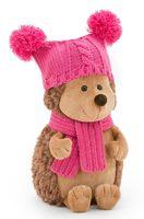 "Мягкая игрушка ""Ежинка Колючка в шапке с двумя помпонами"" (15 см)"