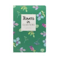 "Блокнот в линейку ""Flowers in Clusters"" (182х258 мм; зеленый)"