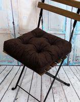 """Подушка на стул """"Velours"""" (40х40 см; темно-коричневая)"""
