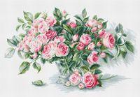 """Вышивка крестом """"Букет чайных роз"""" (435х280 мм)"""