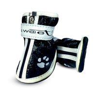 """Ботинки с """"лапками"""" (7х6х7 см; черные)"""