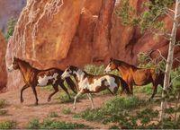 "Пазл ""Chris Cummings. Лошади в каньоне"" (1000 элементов)"