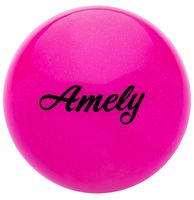 Мяч для художественной гимнастики AGB-102 (19 см; розовый с блёстками)