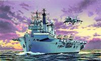 """Авианосец """"H.M.S. Illustrious, Royal Navy Fleet Flagship"""" (масштаб: 1/700)"""