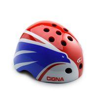 """Шлем велосипедный """"WT-025"""" (белый/красный/синий; арт. 6155)"""