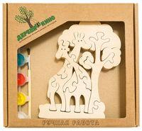 """Набор для росписи по дереву """"Жирафы и дерево"""""""