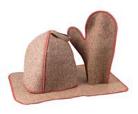 Набор для бани и сауны (коврик, колпак, рукавица; арт. 5015)