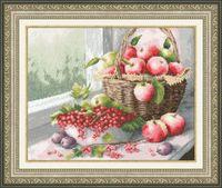 """Вышивка крестом """"Яблочный спас"""""""