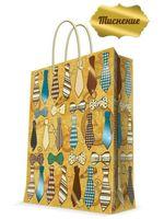 "Бумажный пакет подарочный ""Галстуки и бабочки"" (17,8х22,9х9,8 см; арт. 43515)"