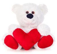 """Мягкая игрушка """"Медведь Бусик с сердцем"""" (30 см)"""