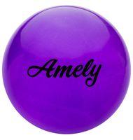 Мяч для художественной гимнастики AGB-102 (19 см; фиолетовый с блёстками)
