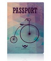 """Обложка для паспорта """"Miusli retro bicycle"""""""