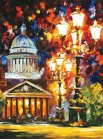 "Картина по номерам ""Мерцание ночи Санкт-Петербурга"" (800х600 мм)"